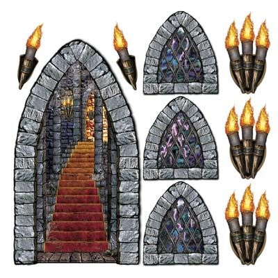 Create the look of a medieval castle with these Castle.
