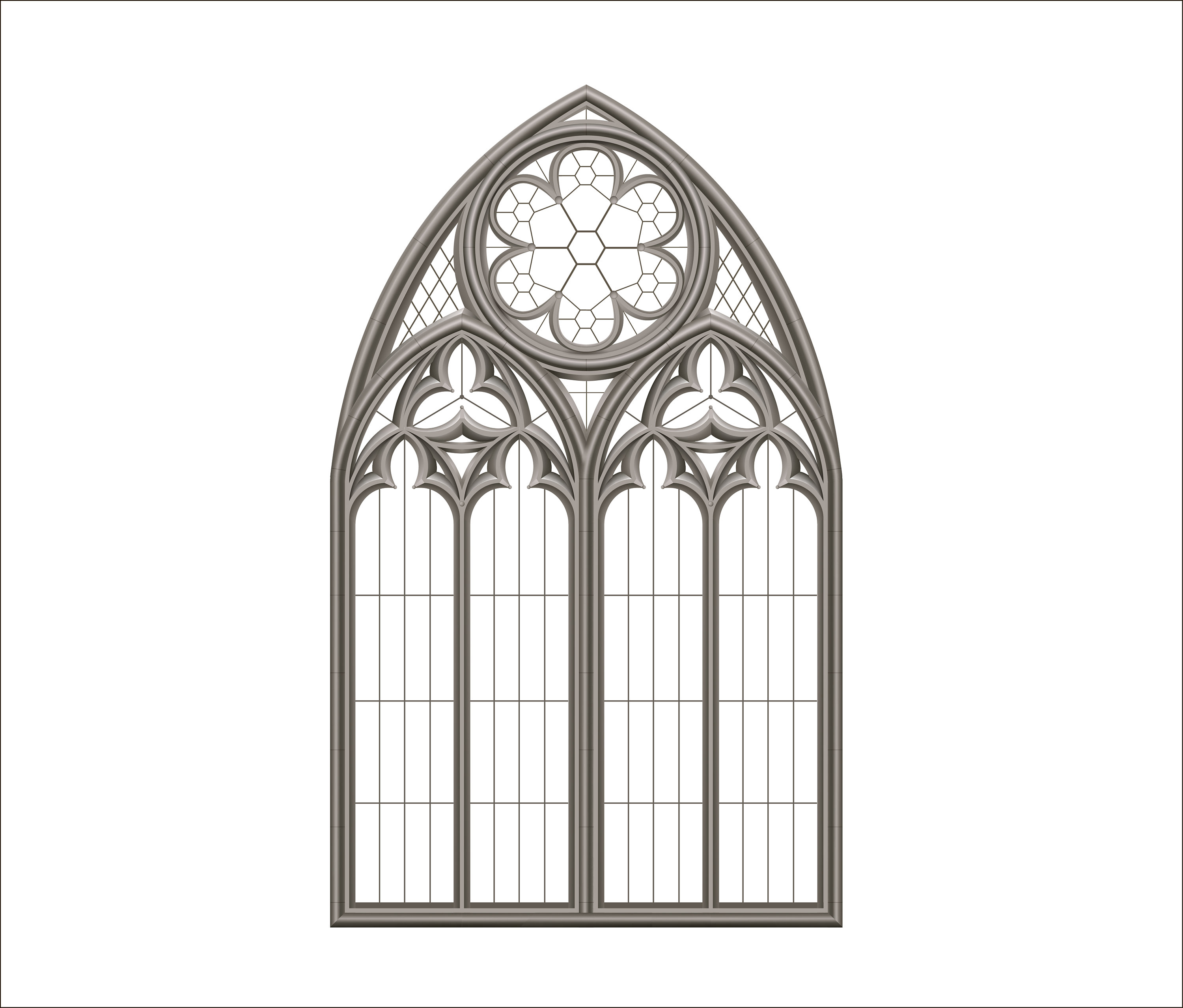 Gothic old window. Temple, castle, palace, architecture. Building and  facades. Pdf, png, eps, jpeg. Stained glass window.
