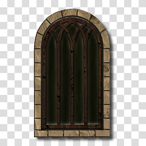 Gatehouse Castle, Gate and door open transparent background PNG.