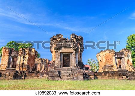Stock Photo of The old castle rock in Thailand k19892033.