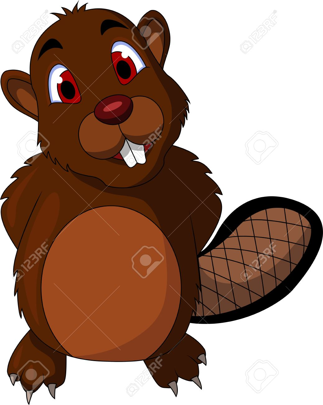 Beaver tail clipart.