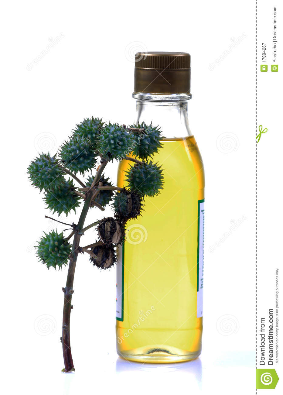 Castor Oil Bottle Royalty Free Stock Photography.