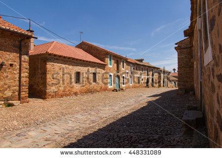 Rio De Onor Typical Village North Stock Photo 60763984.