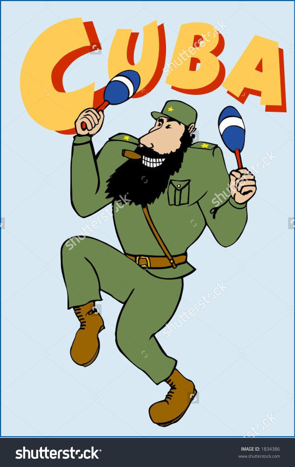 Fidel Castro Stock Vector 1834386.