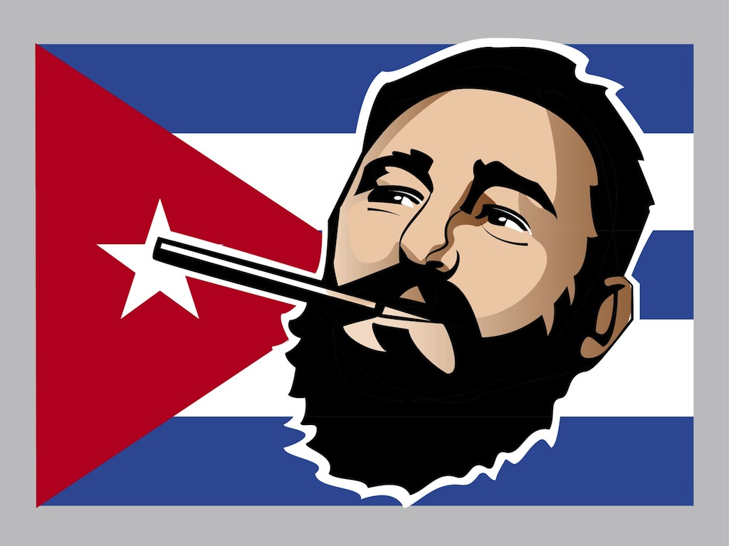 Fidel castro clipart.