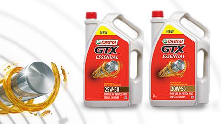 Castrol Oil Product Engine Range.