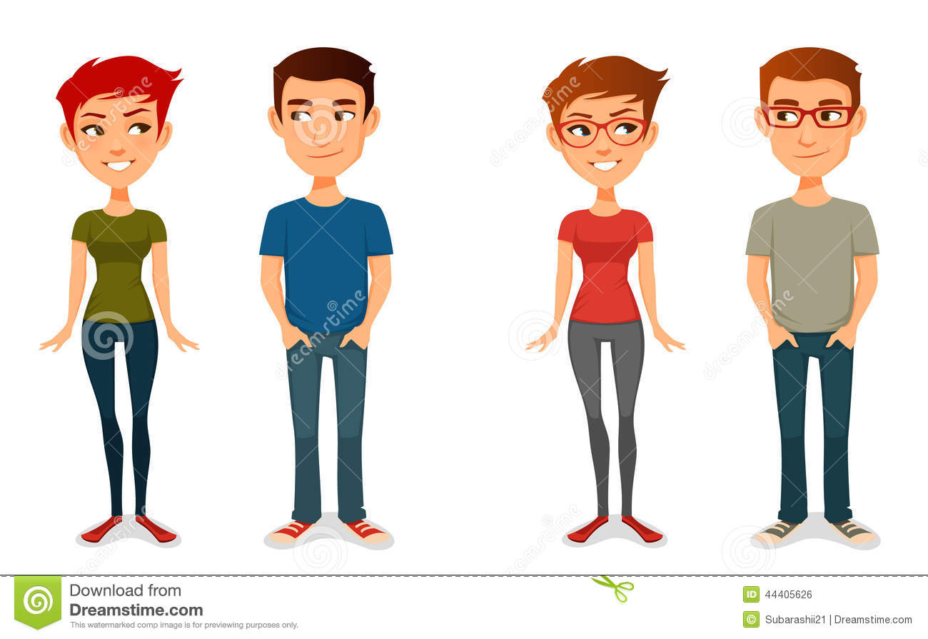 Casual People Clipart.