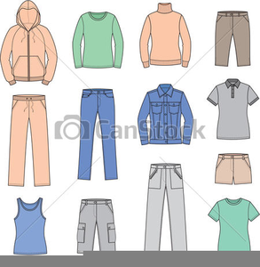 Casual Clothes Clipart.