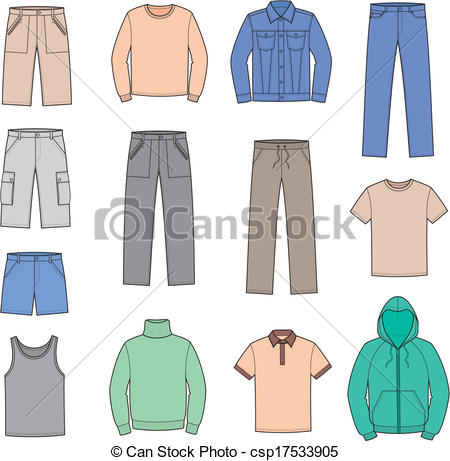 Vector Clipart of Casual clothes.