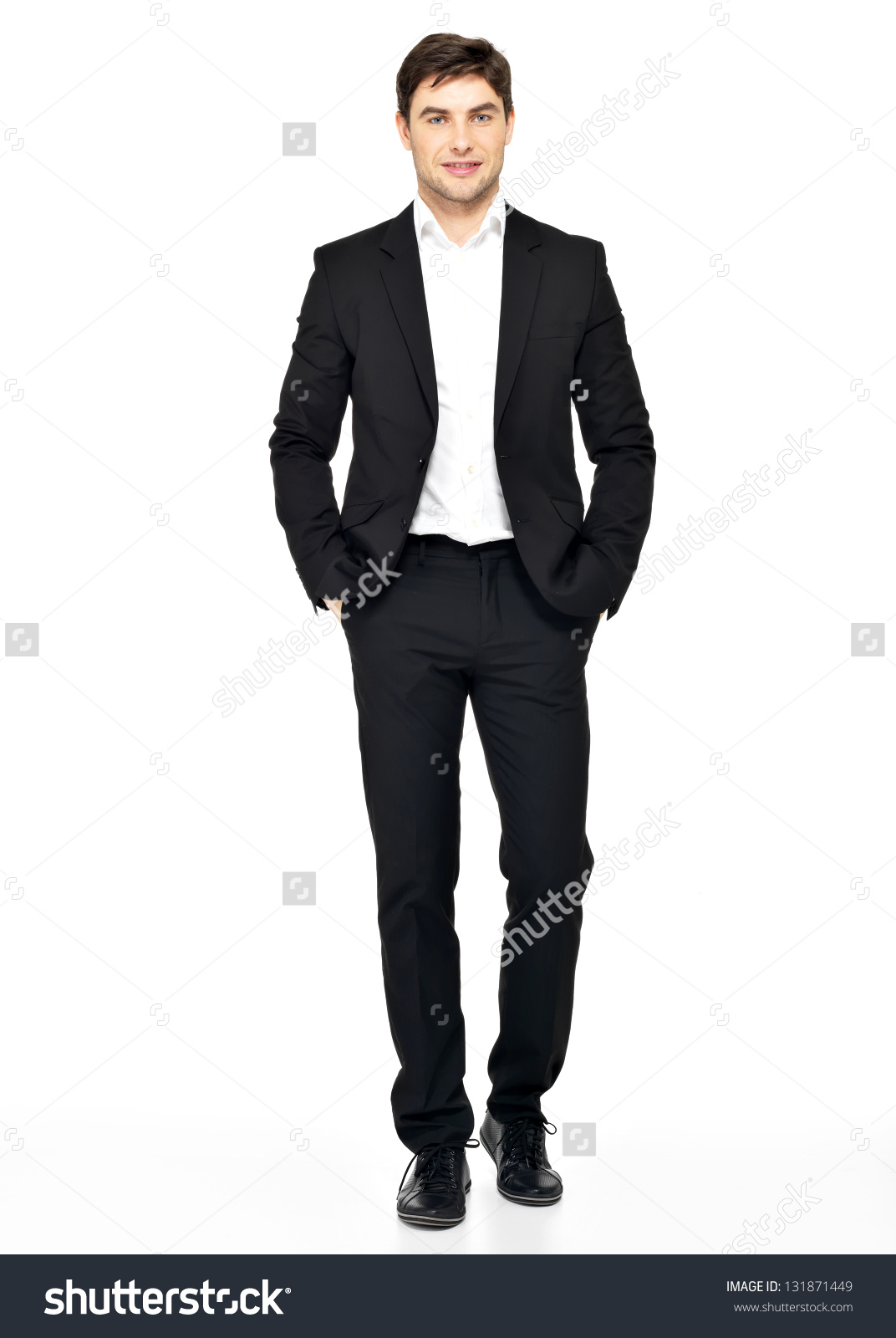 casual man black suit and hat clipart