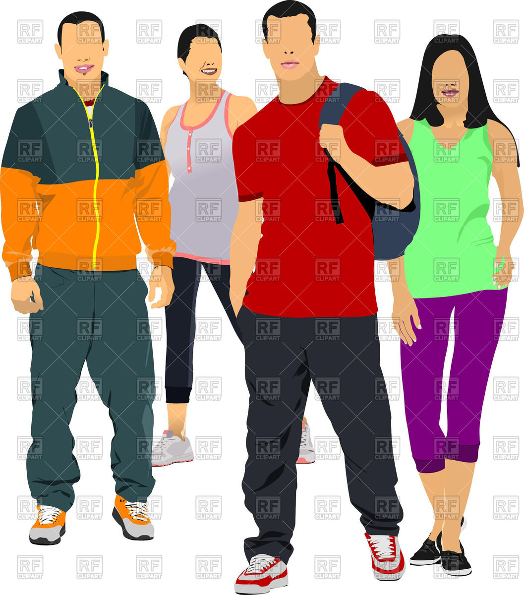 Man in casual clothing clipart.