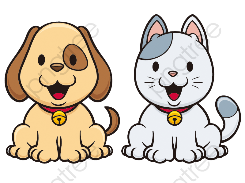 Cartoon Cats And Dogs Red Dogs, Cat, Dog, Cartoon PNG Transparent.