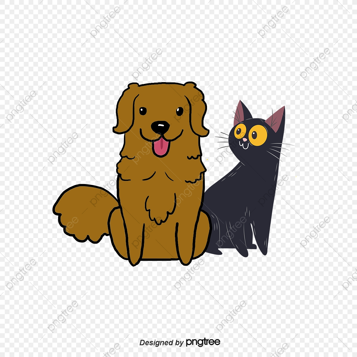 Cartoon Dog Cat Material, Dog Clipart, Cat Clipart, Cartoon Clipart.