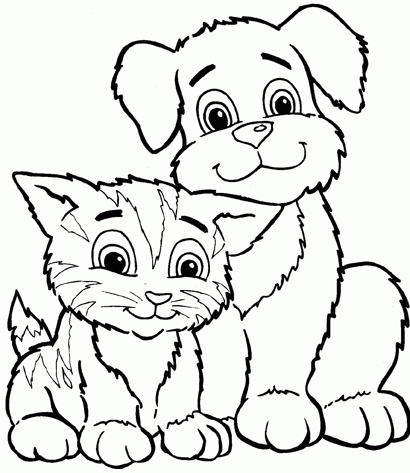 Kids Cat And Dog Clipart.