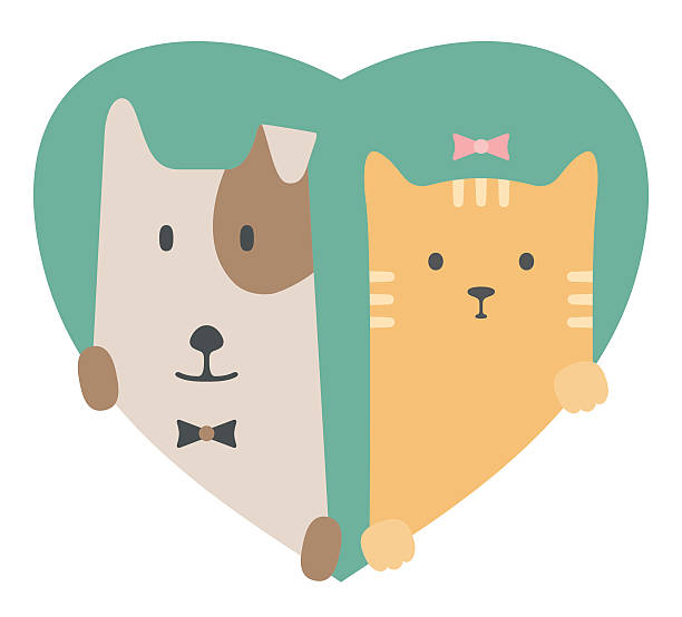 Dog And Cat Love Clipart.