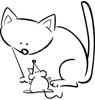 Cat And Mouse Clipart.