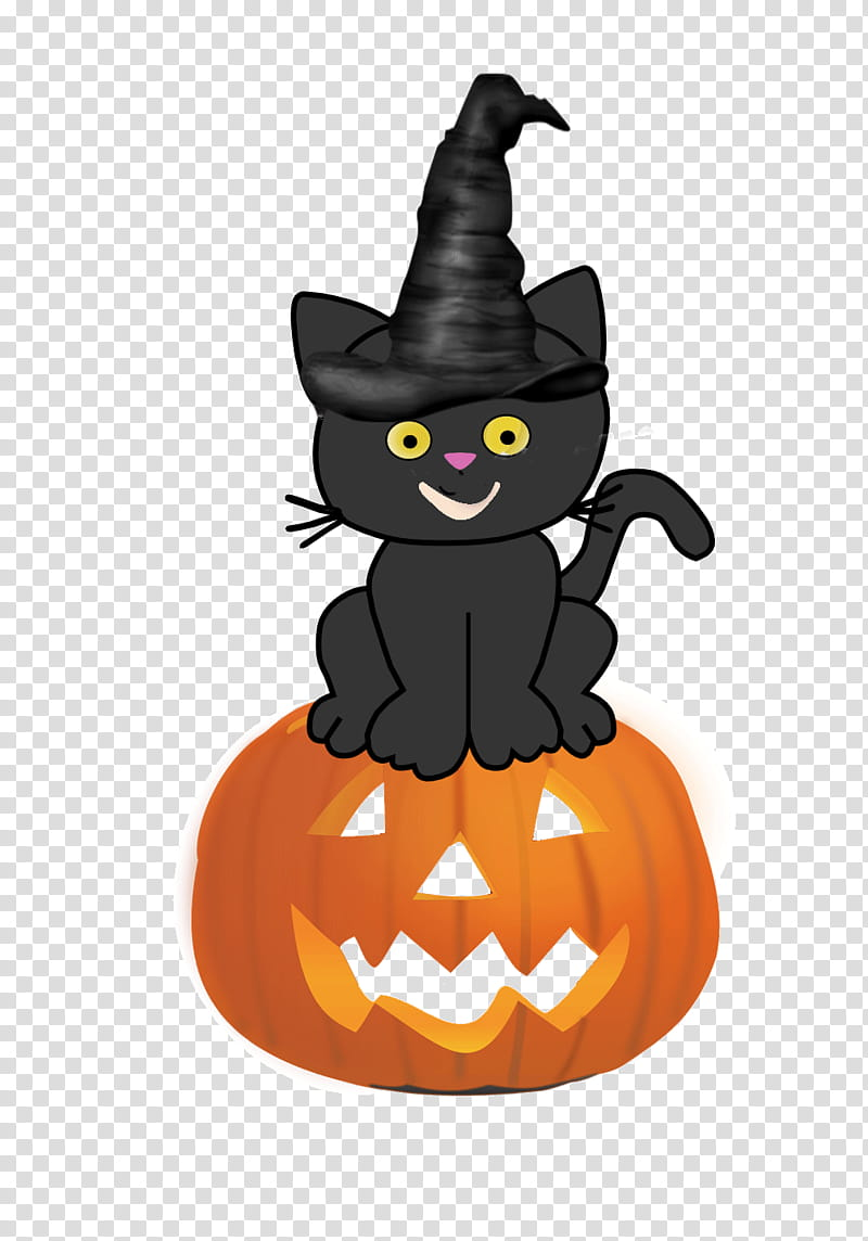 Free Halloween shop Brushes Plus Cutouts, cat standing on.