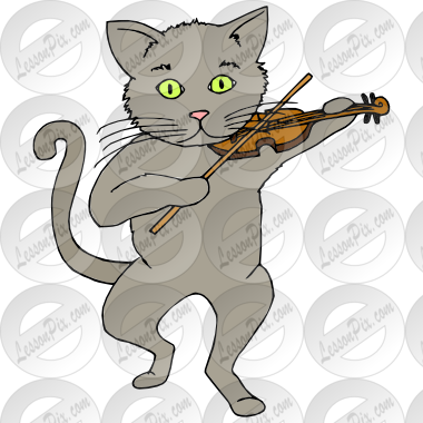 Cat and the Fiddle Picture for Classroom / Therapy Use.