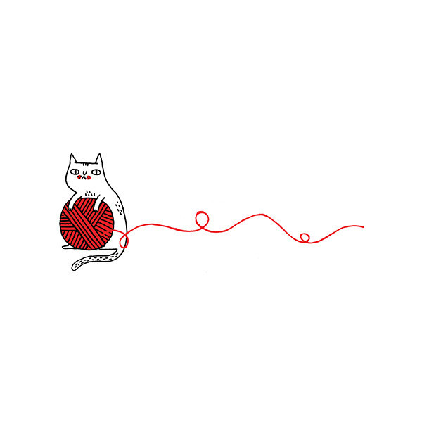 Cat And Yarn Clipart.