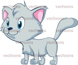Cute Baby CAT Looking Out Illustration.