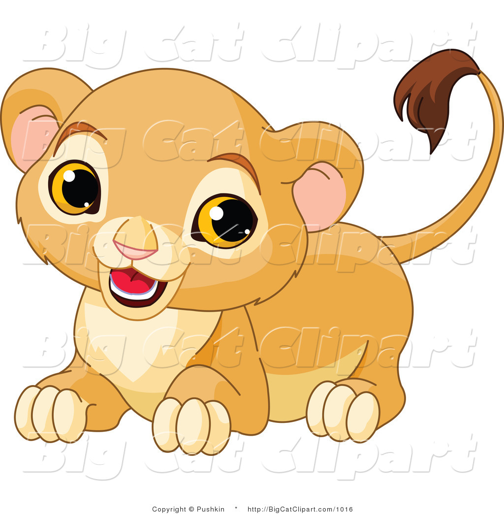 Baby Cougar Clipart.