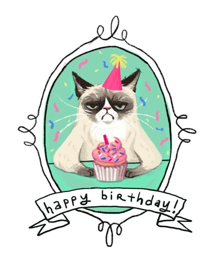 Happy Birthday Clipart Cat.