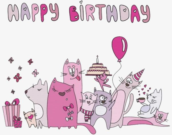 Happy Birthday Cat PNG, Clipart, Birthday, Birthday Clipart.