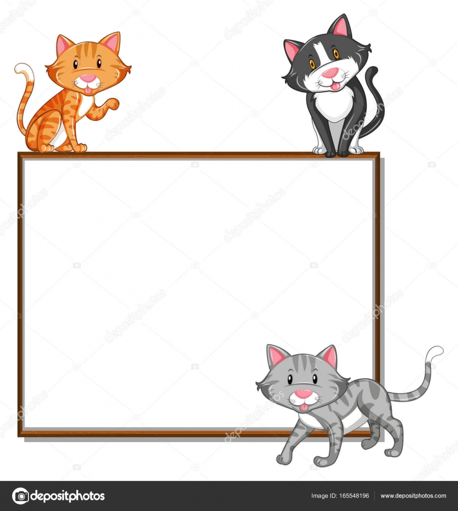 Cat border clip art.