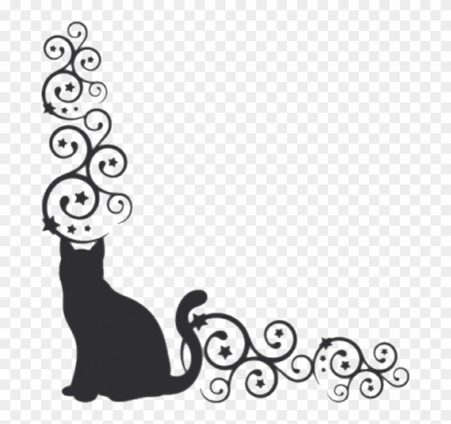 Borders Cat Kitty Cats Blackcat Pets.