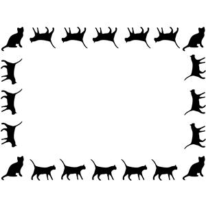 Cat Border clipart, cliparts of Cat Border free download (wmf, eps.
