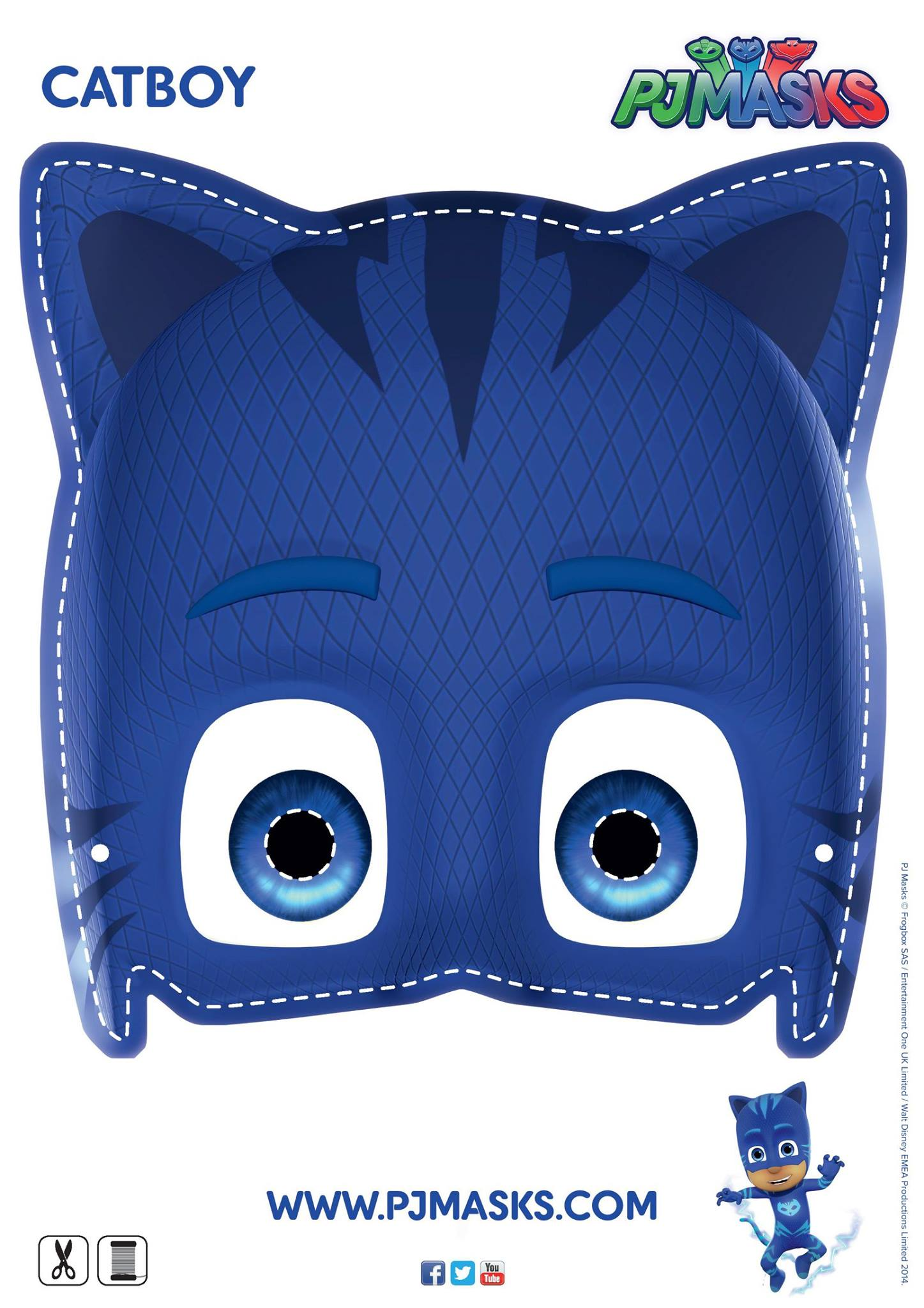 Make your own Catboy mask! #pjmasks #activitysheet #disneyjunior.