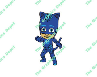 cat boy blue clipart #4