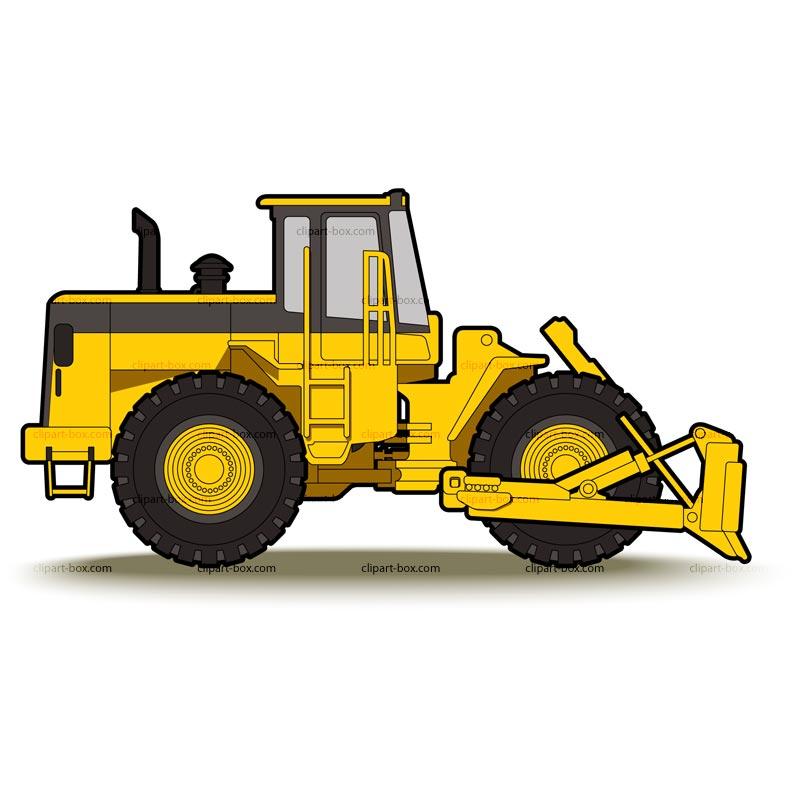 Image of Bulldozer Clipart Clipart Caterpillar Free Vector.