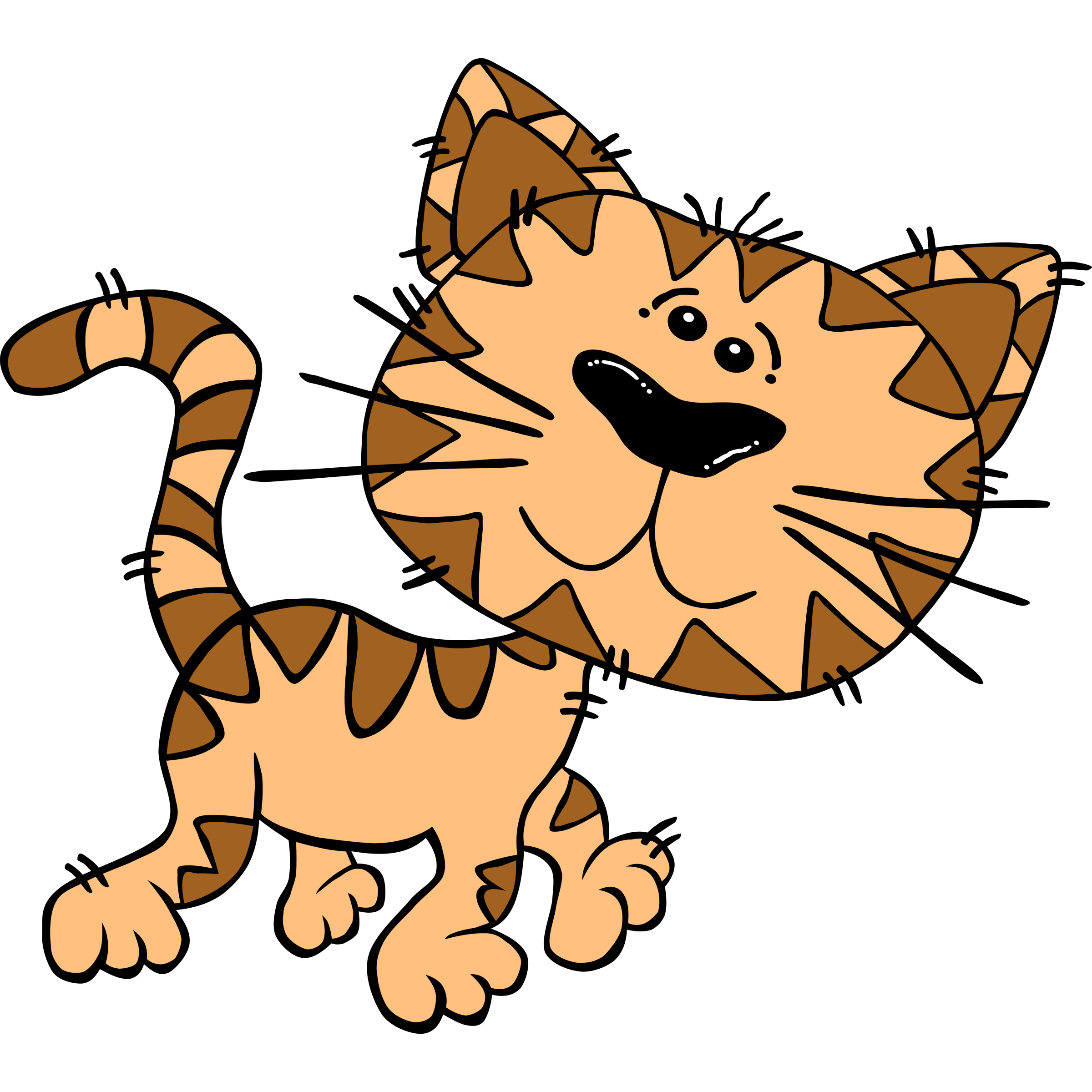 Funny Cat Cartoon Clip Art.