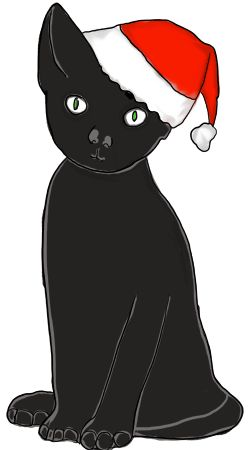 Free Cat Christmas Cliparts, Download Free Clip Art, Free Clip Art.