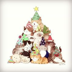 659 Best Christmas cat clipart images in 2019.