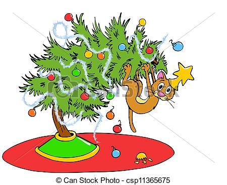 Christmas Tree Cat.
