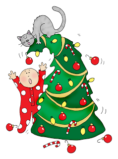 Free Dearie Dolls Digi Stamps: Christmas Cat.