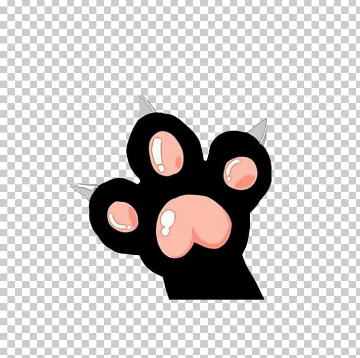 Cat Paw Domestic Pig Claw PNG, Clipart, Black, Black Cat.