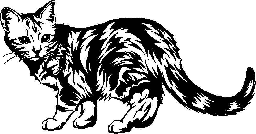 Cat black and white cat clip art black and white free clipart images.
