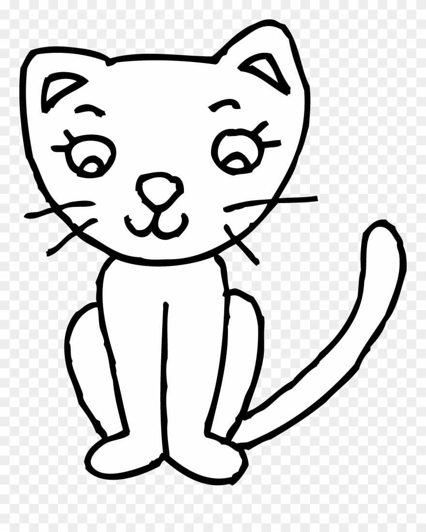 Cat Clipart Black And White.