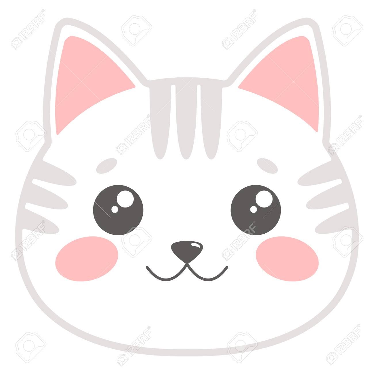 Cute Cat Clipart Face.