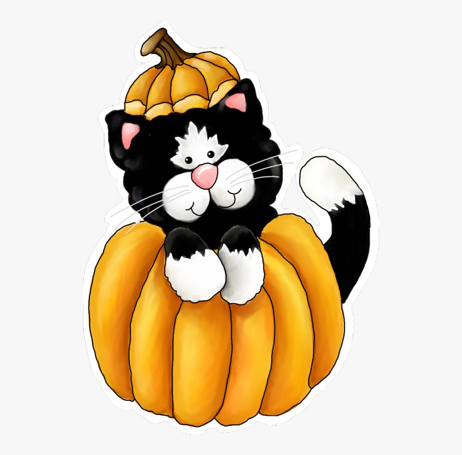 Fall Cat Clipart.