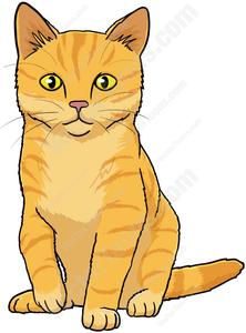 Orange Tabby Cat Clipart.