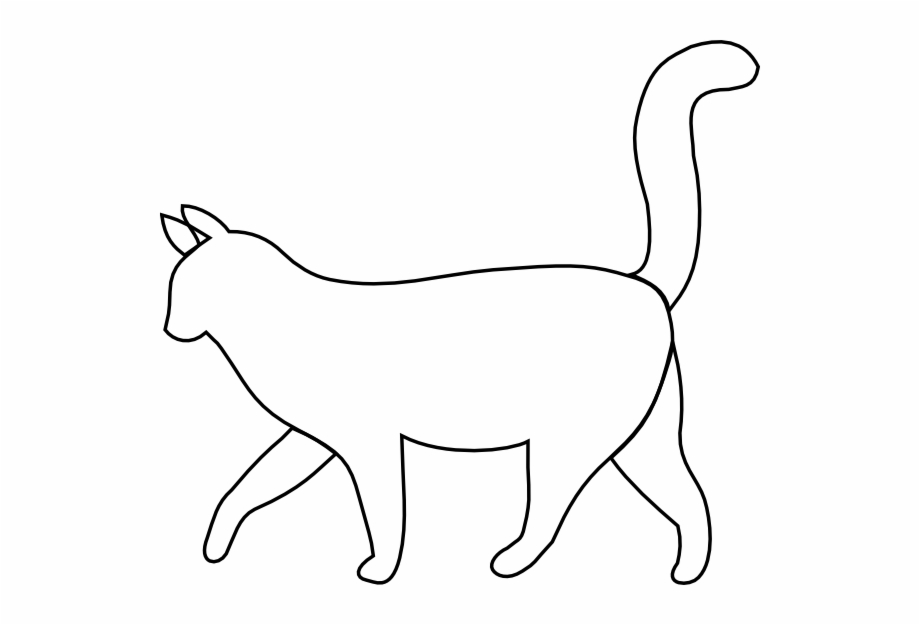 Free Cat Black And White Outline, Download Free Clip Art.