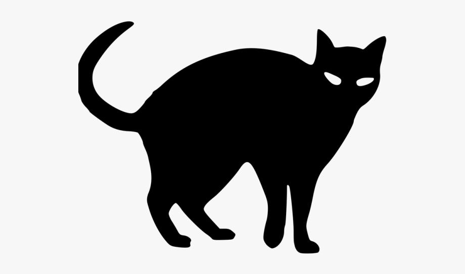 Black Cat Clipart Black And White.