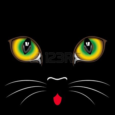 447 Cat Close Up Stock Vector Illustration And Royalty Free Cat.