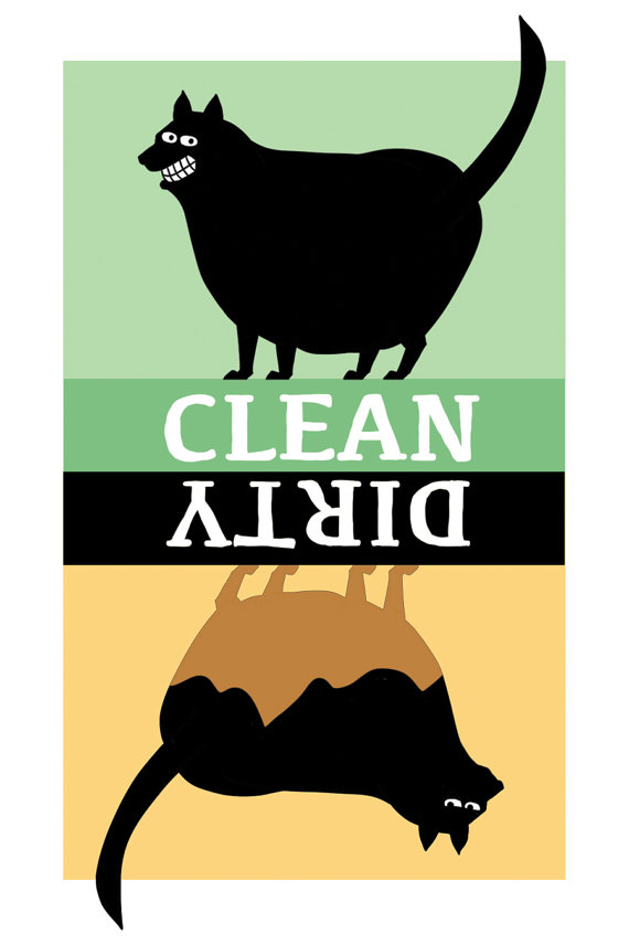 cat dishwasher magnet clean dirty black dishwasher magnet.