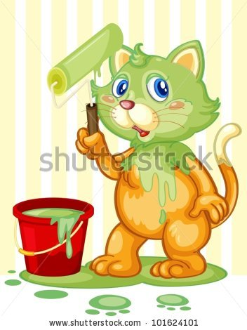 Dirty Cat Stock Images, Royalty.