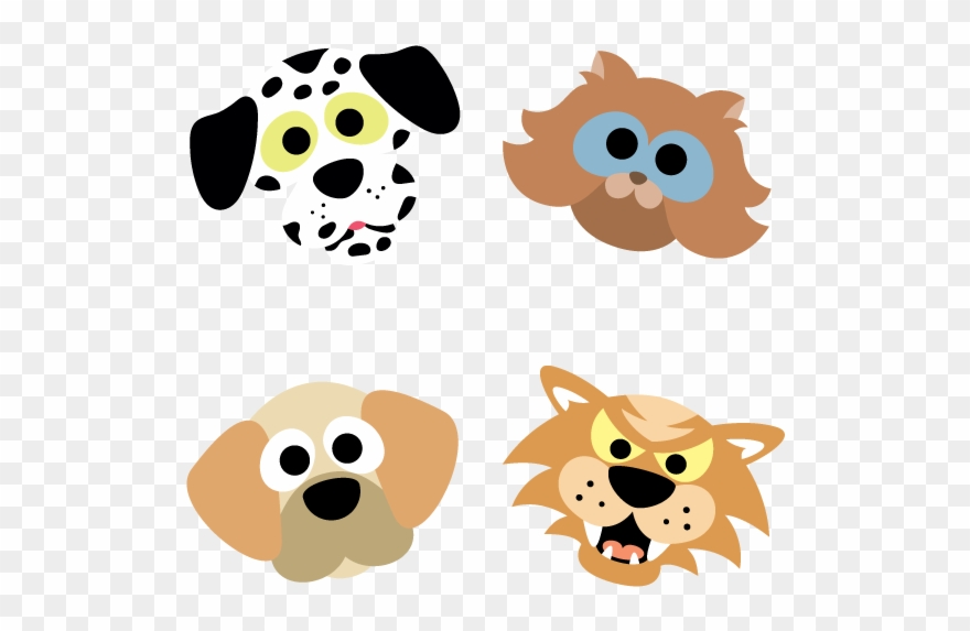 Printable Cats And Dogs Masks.
